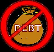 Debt Xout Money Bag